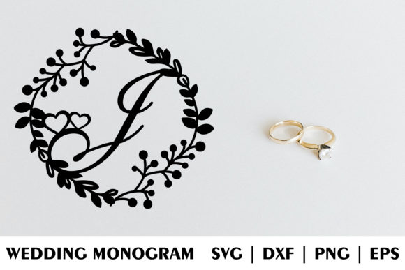 Download Free Letter J Of Wedding Decorative Monogram Graphic By Julimur2020 for Cricut Explore, Silhouette and other cutting machines.