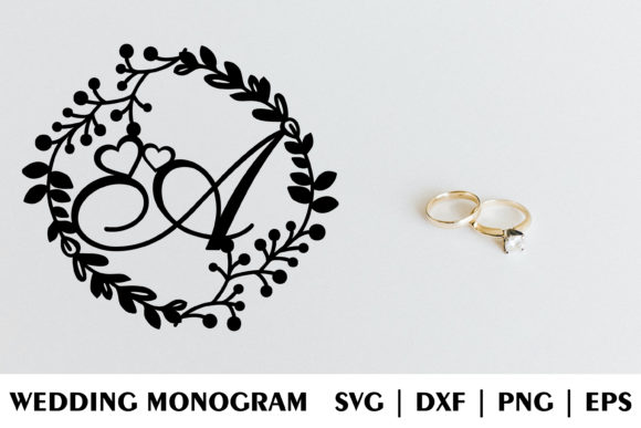 Download Free Letter D Of Wedding Decorative Monogram Graphic By Julimur2020 for Cricut Explore, Silhouette and other cutting machines.