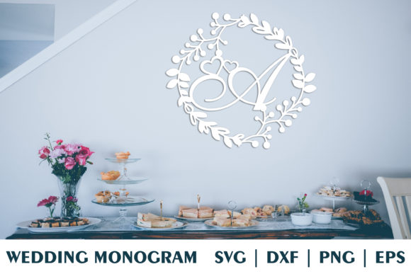 Download Free Letter A Of Wedding Decorative Monogram Graphic By Julimur2020 for Cricut Explore, Silhouette and other cutting machines.