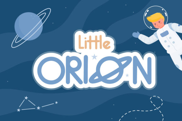 Print on Demand: Little Orion Script & Handwritten Font By Helotype