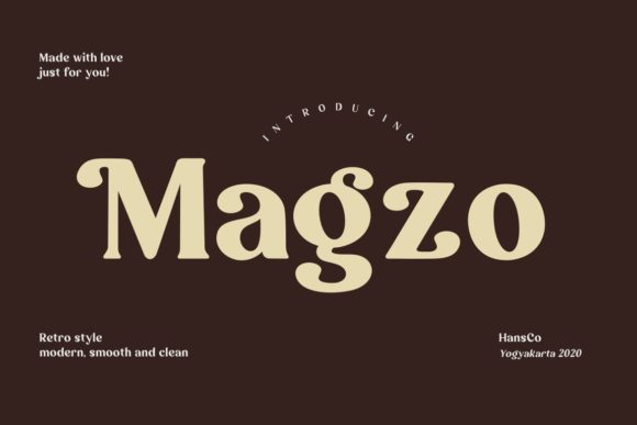 Print on Demand: Magzo Serif Font By HansCo