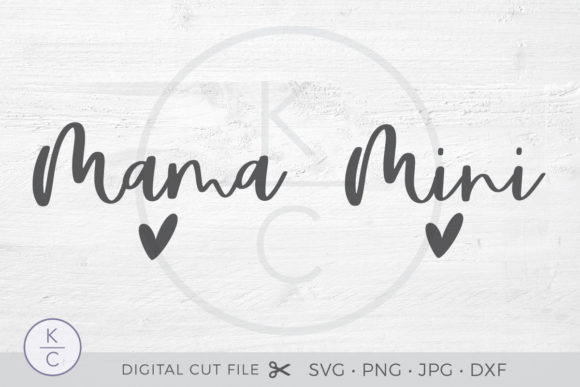 Download Free Mama And Mini Matching Shirts Graphic By Thekccollectiveco SVG Cut Files