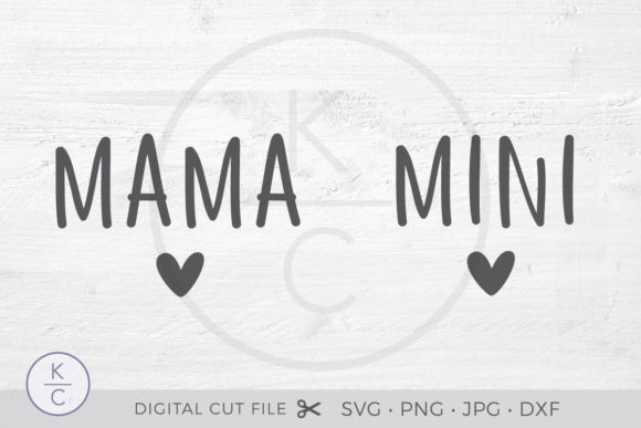 Download Free Mama And Mini Mother Daughter Shirts Graphic By for Cricut Explore, Silhouette and other cutting machines.