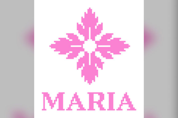 Maria Cross Stitch Pattern Graphic Cross Stitch Patterns By marvi_crafts