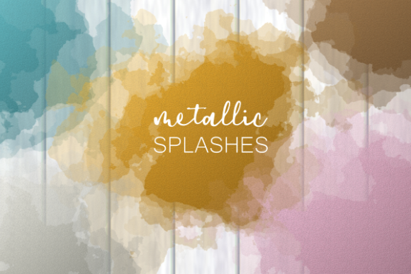 Print on Demand: Metallic Shimmer Sheen Splashes Decor Gráfico Fondos Por Prawny