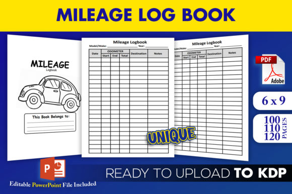 Print on Demand: Mileage Logbook Vehicle Log KDP Interior Graphic KDP Interiors By Beast Designer