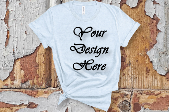 Mockup Bella Canvas 3001 White T-shirt Graphic Product Mockups By MockupsByGaby