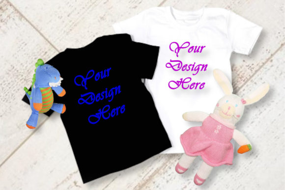 Mockups Boy and Girl T-Shirt Graphic Product Mockups By MockupsByGaby - Image 1