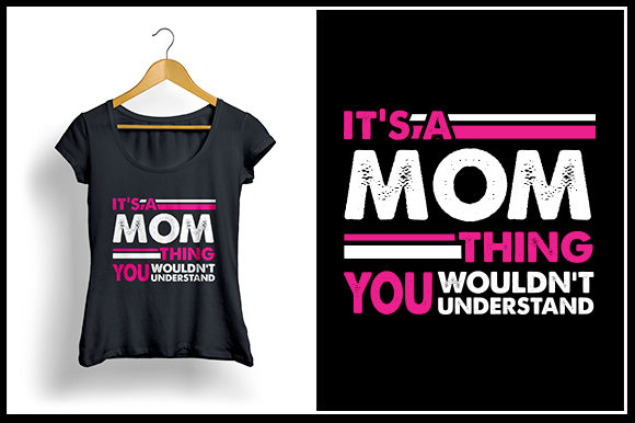Download Free Mom Thing T Shirt Design Graphic By Zaibbb Creative Fabrica for Cricut Explore, Silhouette and other cutting machines.
