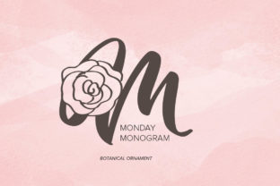 Print on Demand: Monday Monogram Decorative Font By Monogram Lovers