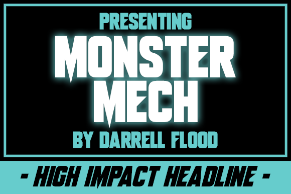 Print on Demand: Monster Mech Display Font By Dadiomouse