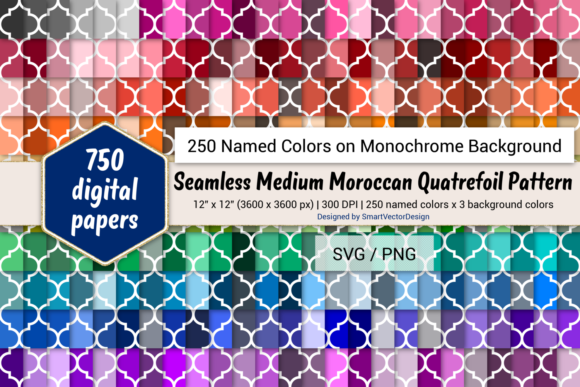 Download Free Geom Unicorn Digital Paper 250 Colors Graphic By SVG Cut Files