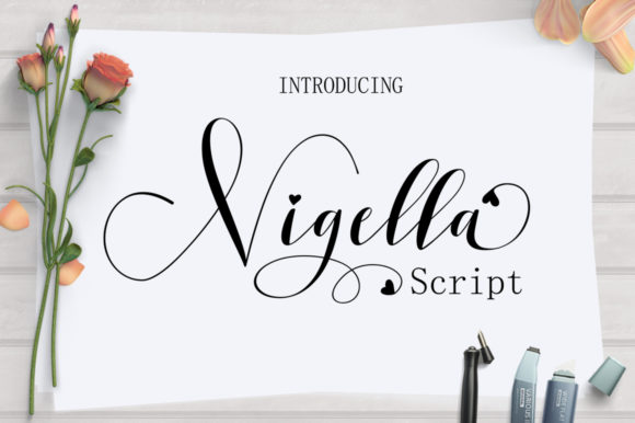 Print on Demand: Nigella Script & Handwritten Font By Keren Studio