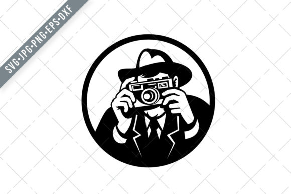 Download Free Photographer Shooting Camera Graphic By Patrimonio Creative for Cricut Explore, Silhouette and other cutting machines.