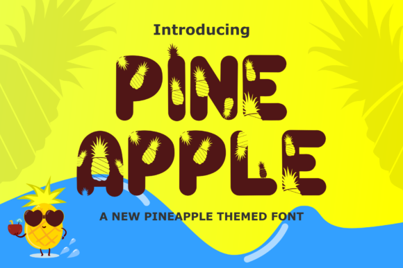 Print on Demand: Pineapple Display Font By Rusd studio