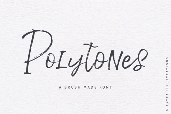 Print on Demand: Polytones Script & Handwritten Font By Ayca Atalay