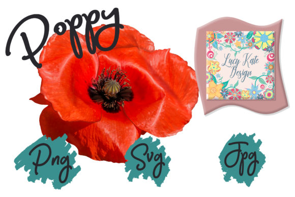 Print on Demand: Poppy Power Graphic Nature By Lucy Kate Design