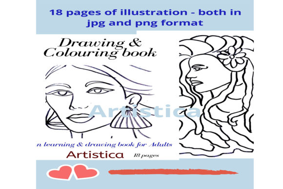 Print on Demand: Portrait Coloring Pages Graphic KDP Interiors By Creative arts