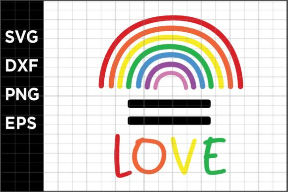Download Free Pride Equal Love Graphic By Spoonyprint Creative Fabrica SVG Cut Files