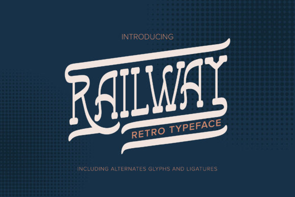 Print on Demand: Railway Serif Font By Vunira