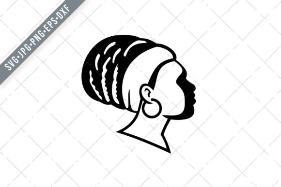 Download Free Rasta Empress Or Rastafari Woman Side Graphic By Patrimonio for Cricut Explore, Silhouette and other cutting machines.