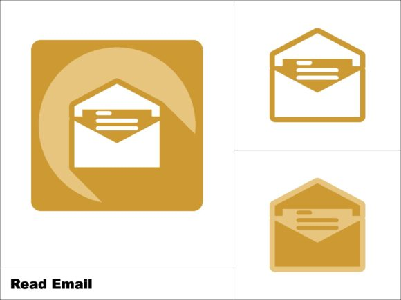 Download Free Read Mail Icon 3 Models Graphic By Novieart 99 Creative Fabrica for Cricut Explore, Silhouette and other cutting machines.