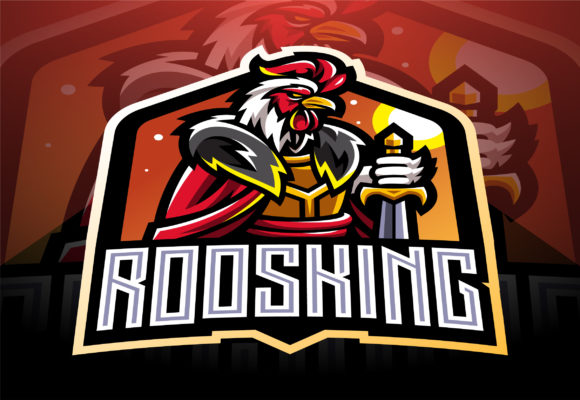 Download Free Rooster King Esport Mascot Logo Design Graphic By Visink Art for Cricut Explore, Silhouette and other cutting machines.