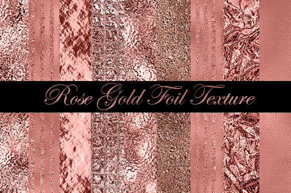 Rose Gold Foil Background with Textures Graphic Textures By sugamiart