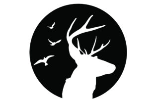 Print on Demand: Rustic Mountain Deer Hunting Graphic Crafts By creativeshohor