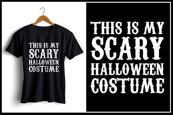 Download Free Scary Halloween T Shirt Design Graphic By Zaibbb Creative for Cricut Explore, Silhouette and other cutting machines.