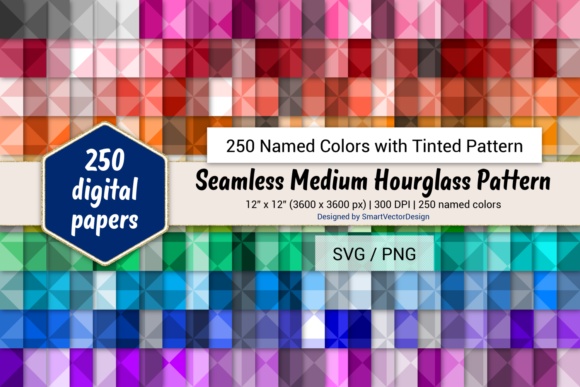 Print on Demand: Seamless Hourglass Pattern Digital Paper Graphic Backgrounds By SmartVectorDesign