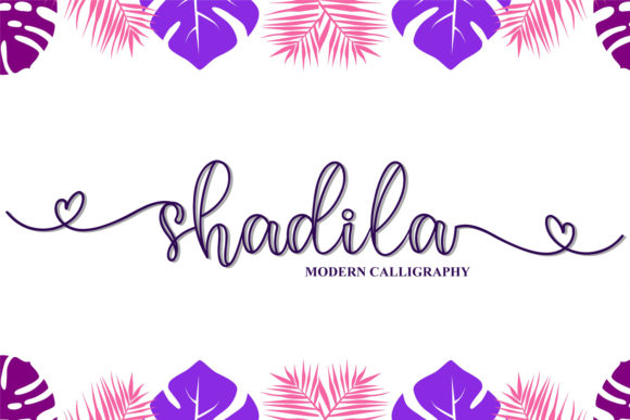 Print on Demand: Shadila Script & Handwritten Font By niyos.studio