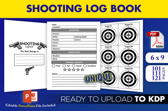 Shooting Log Book KDP Interior Logbook Graphic KDP Interiors By Beast Designer - Image 1