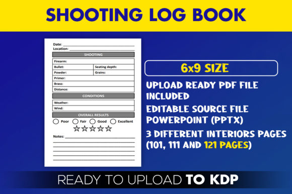 Shooting Log Book KDP Interior Logbook Graphic KDP Interiors By Beast Designer - Image 2