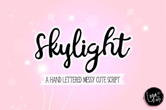 Print on Demand: Skylight Script & Handwritten Font By loyaarts