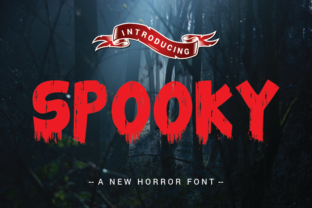 Print on Demand: Spooky Display Font By Smart Studio