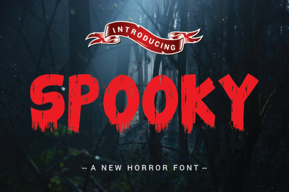 Print on Demand: Spooky Display Font By nabarya.business