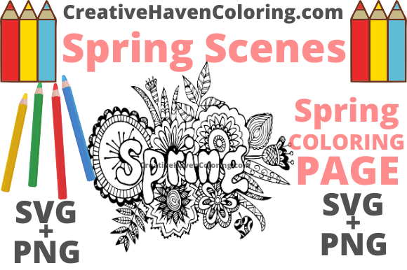 Print on Demand: Spring Coloring Page #10 Graphic Coloring Pages & Books Adults By creativehavencoloring