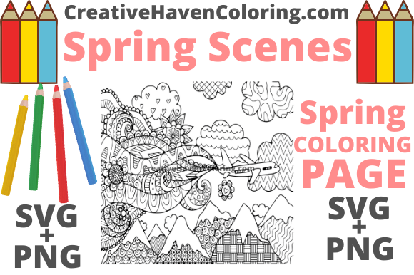 Print on Demand: Spring Coloring Page #13 Graphic Coloring Pages & Books Adults By creativehavencoloring