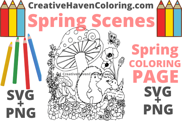 Print on Demand: Spring Coloring Page #15 Graphic Coloring Pages & Books Adults By creativehavencoloring