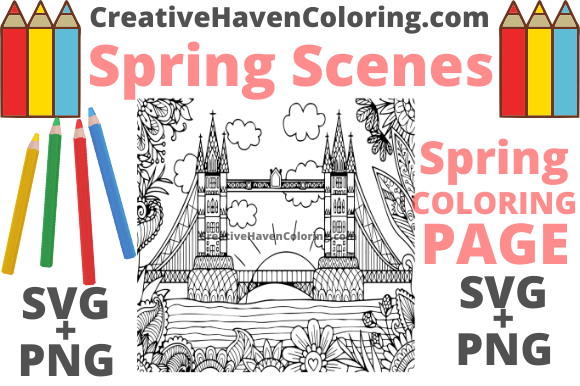 Print on Demand: Spring Coloring Page #17 Graphic Coloring Pages & Books Adults By creativehavencoloring