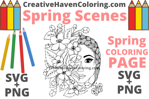 Print on Demand: Spring Coloring Page #5 Graphic Coloring Pages & Books Adults By creativehavencoloring