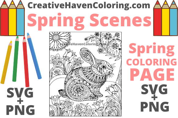 Print on Demand: Spring Coloring Page #7 Graphic Coloring Pages & Books Adults By creativehavencoloring