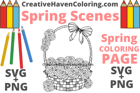Print on Demand: Spring Coloring Page #9 Graphic Coloring Pages & Books Adults By creativehavencoloring