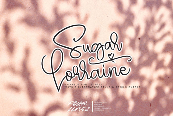 Print on Demand: Sugar Lorraine Manuscrita Fuente Por Fourlines.design