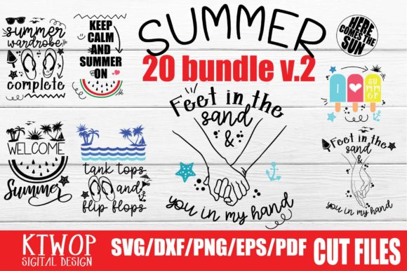 Print on Demand: Summer Love Home Crafts Bundle Grafik Plotterdateien von KtwoP