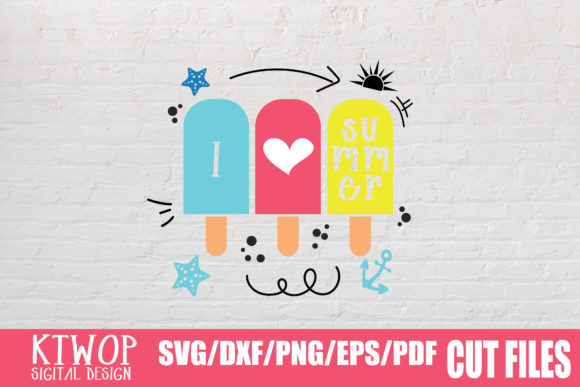 Download Free I Love Summer Graphic By Ktwop Creative Fabrica for Cricut Explore, Silhouette and other cutting machines.
