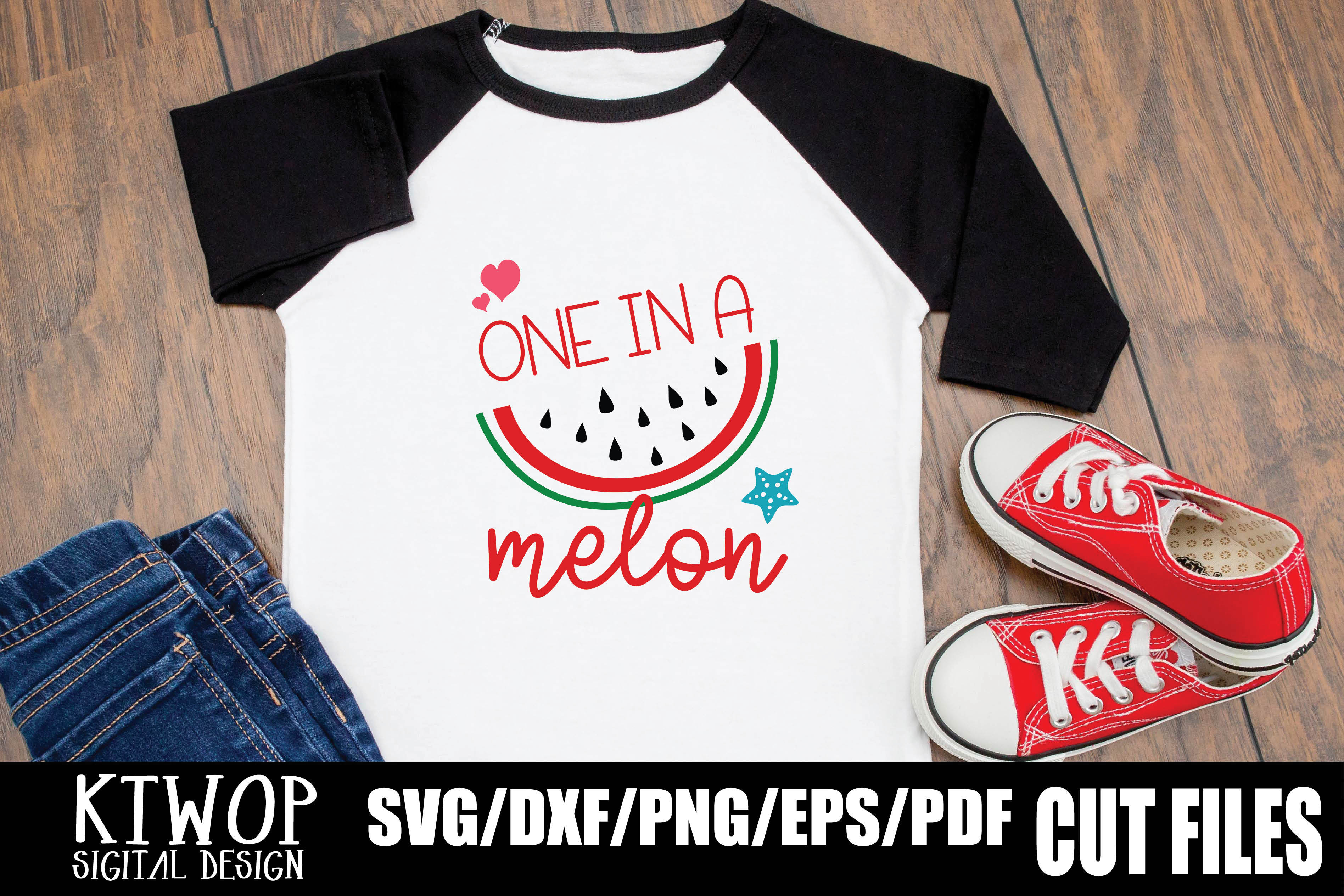 Download Free One In A Melon Graphic By Ktwop Creative Fabrica for Cricut Explore, Silhouette and other cutting machines.