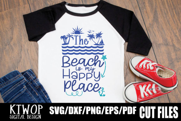 Print on Demand: The Beach is My Happy Place Graphic Crafts By KtwoP