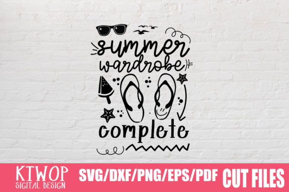 Download Free Summer Wardrobe Complete Graphic By Ktwop Creative Fabrica for Cricut Explore, Silhouette and other cutting machines.